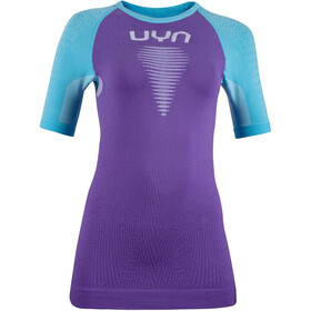 UYN Marathon OW SS Shirt Women, deep lavander/river blue/white